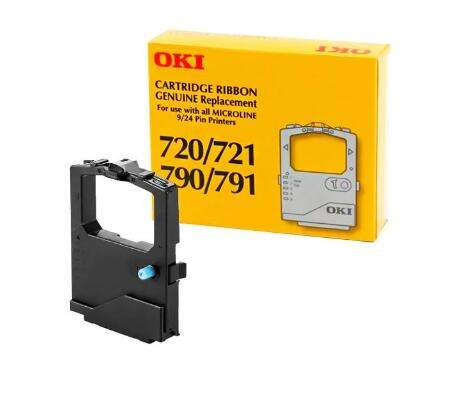 Seamless,w// Re-Inker Oki Data 42377801 Microline Nylon Printer Ribbon-Microline Nylon Printer Ribbon Black Wholesale CASE of 10