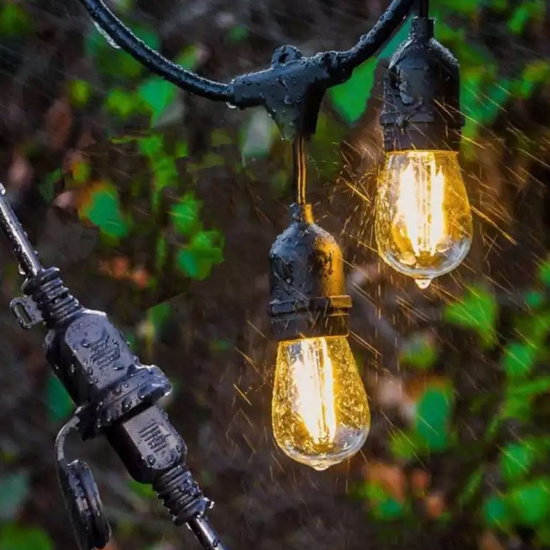 Outdoor 2W Light 2700k Patio Part Backyard Bistro Decor Light China Christmas Decorations Supplier Outside Solar String Light