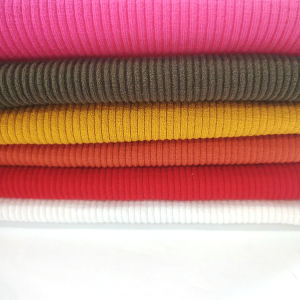 OEKO certification 88% rayon 12% spandex rib fabric for autumn clothes-18003625