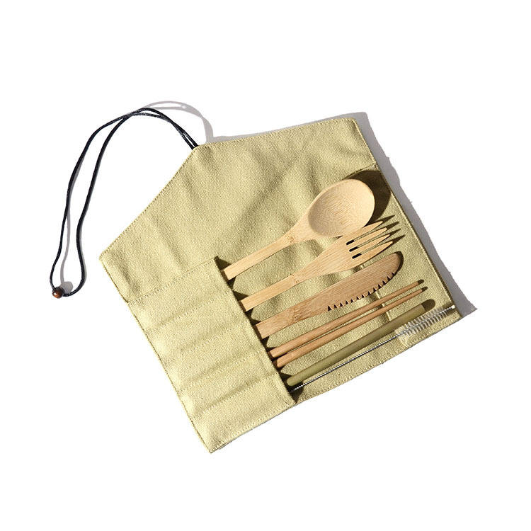 Japanese Style Healthy Portable Office Home School Bamboo Utensils