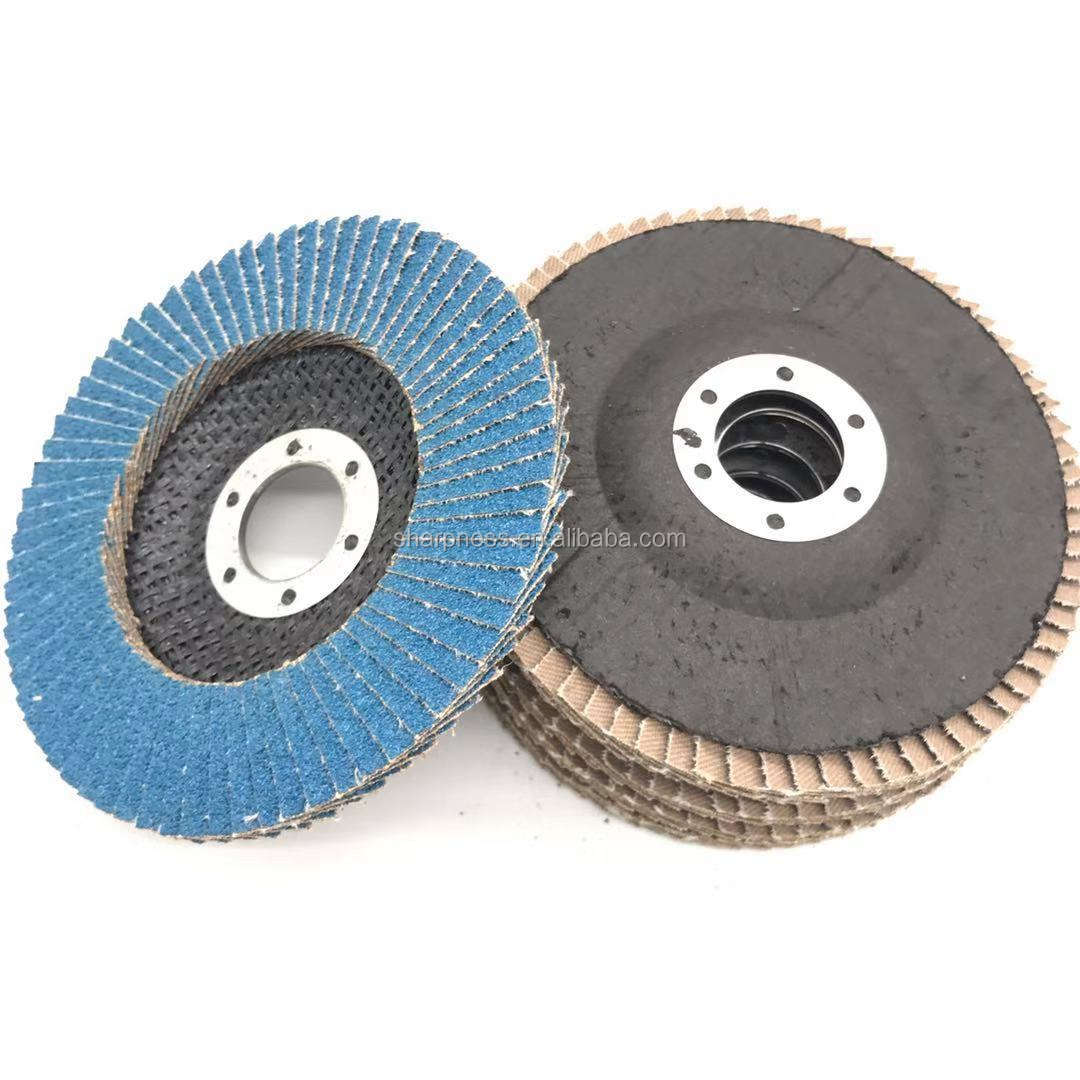 "4.5/"" x 7//8/"" 10 PC High Density Zirconia Flap Grinding Disc80 Grit Bevel T29"