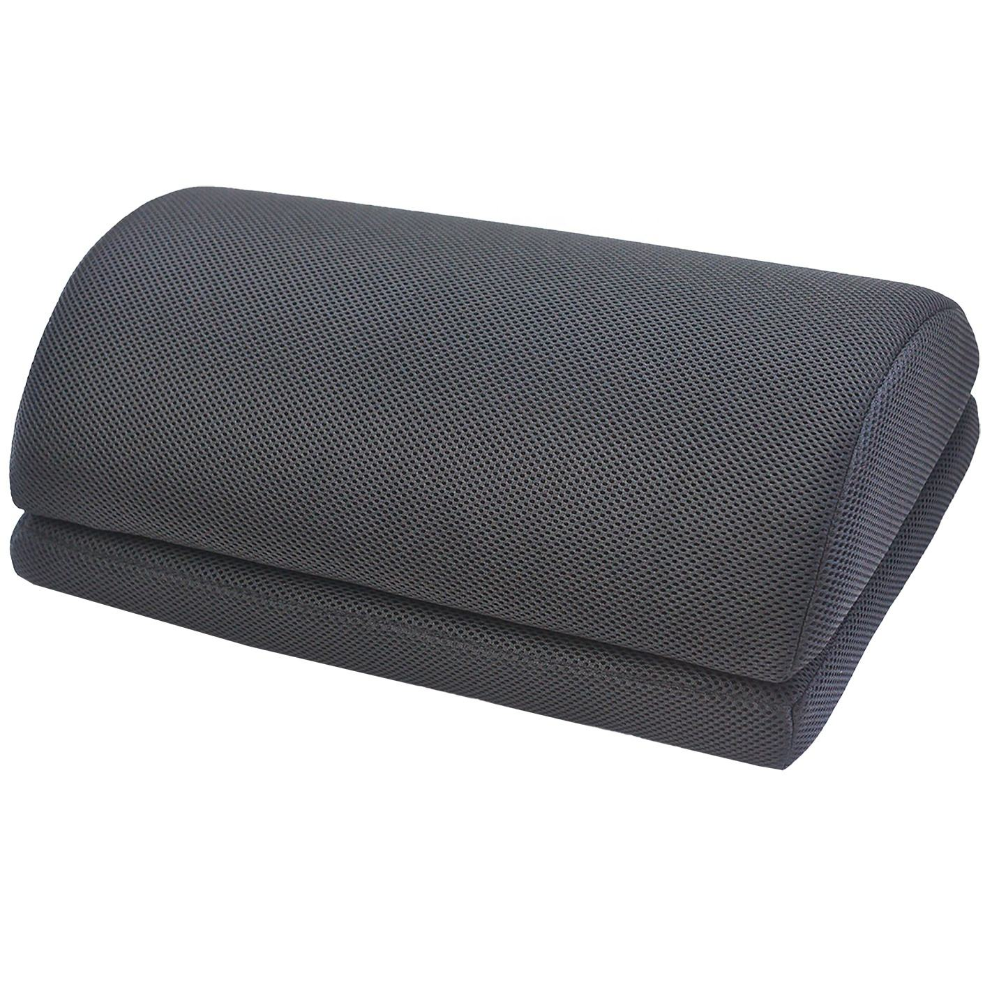 Yiwu Textile Factory Half Moon Foot pillow Memory Foam Pillow Bolster Foot Rest Cushion For Under Desk cushion