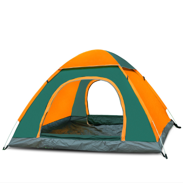 luxury 2 to 4 person waterproof family camping tent with two doors