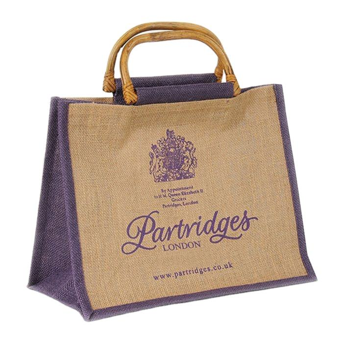 European shopping bag wholesale hot sell Customized stylish tote Handbag Jute Bag