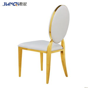 China elegant oval back gold chair for wedding Church Cover Banquet chair Cheap Banquet Chair