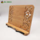 Desktop carving cook reading adjustable wooden bamboo book holder stand / book stand holder for home office
