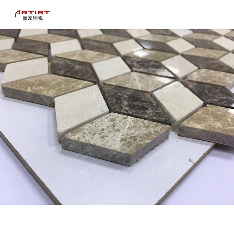 resin and stone mosaic polished strip stone mosaic floor tiles 4 mm thickness glass stone mosaic tiles