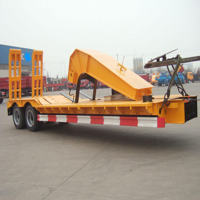 Best selling 50tons low bed semitrailer