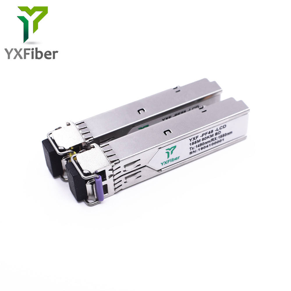 YXFiber Networks BiDi 155M 1550NM 80 กม SFP โมดูล