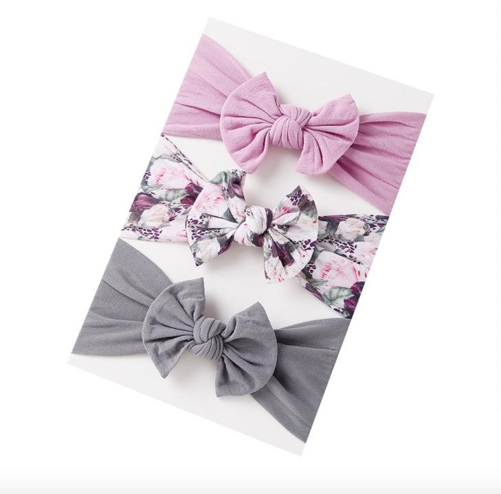 Sweet baby print nylon headwraps set newborn print nylon headband custom print girls headwraps