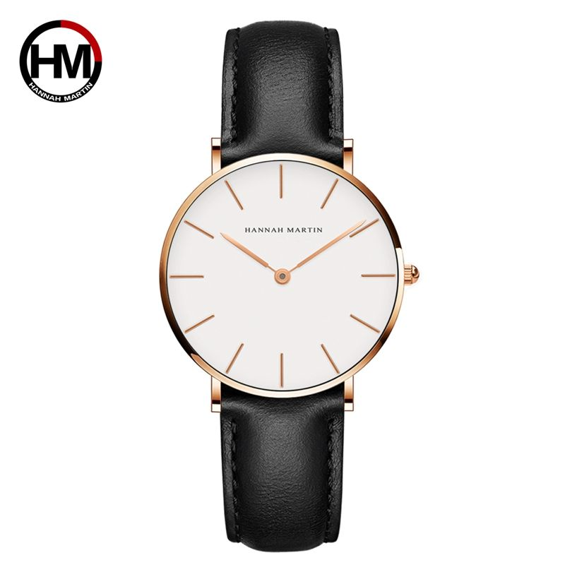 Hannah Martin CB36 Classic Quartz Ladies Simple Watches Leather Strap Elegant Small Fresh Ladies Wrist Watch New Watch Women