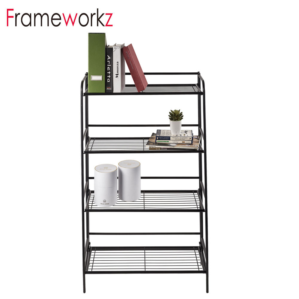 4 Tier Adjustable Home Use Steel Assembly Folding Steel Metal Storage Rack