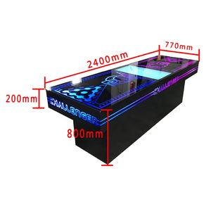 Led Light Up Customize Printing Beer Pong Table With Cabinet Metal Foldable Machine Beer Pong Table Custom