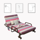 Custom made new design Light luxury modern queen size folding double bed metal material bed