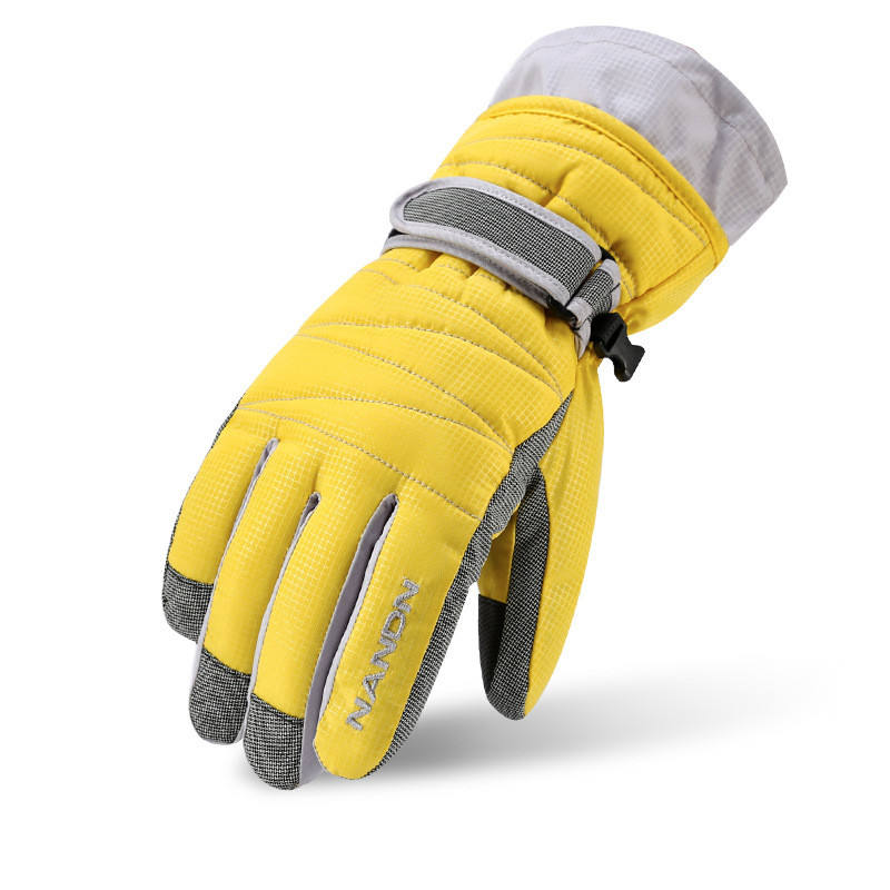 Promotion Custom Touch Screen Protector Snowboard Adult children Ski Gloves with Wrist Leashes