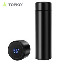 TOPKO smart water bottle LED temperature display thermo flask bottle tea cup