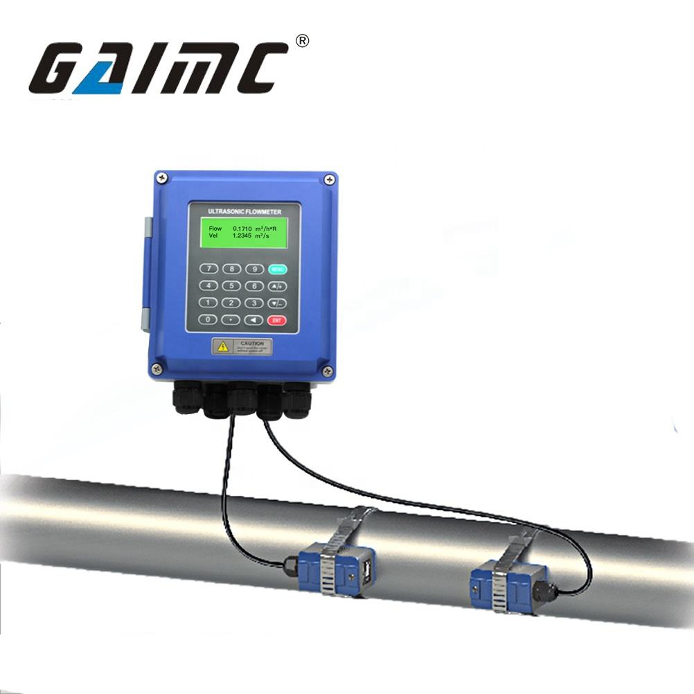 GUF120A-W China wall mounted Clamp on pipe ultrasonic water flow meter price