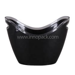 Acrylic Ice Cooler Oval Boat Shape Beer Bucket for Wholesale