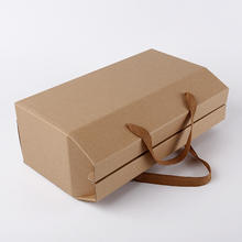 Custom environmentally friendly recyclable kraft paper bag large package large capacity gift box with handle