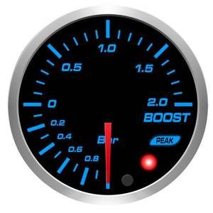 52Mm BF 10 Warna Mobil 2 Bar 30 PSI Led Boost Gauge