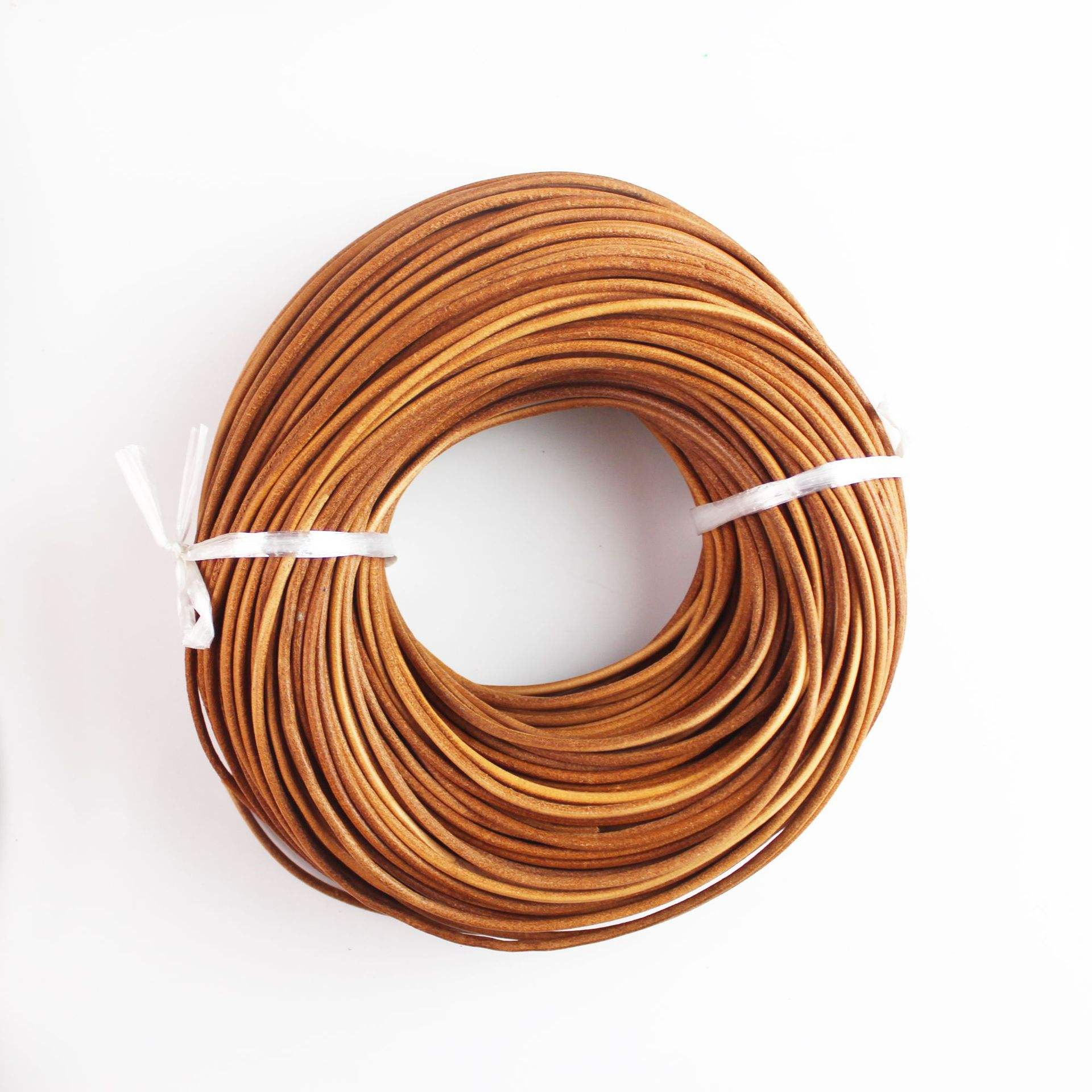 Round 3mm5mm genuine leather string cowhide rope creative amazon diy accessories mobile phone shell leather rope braided rope