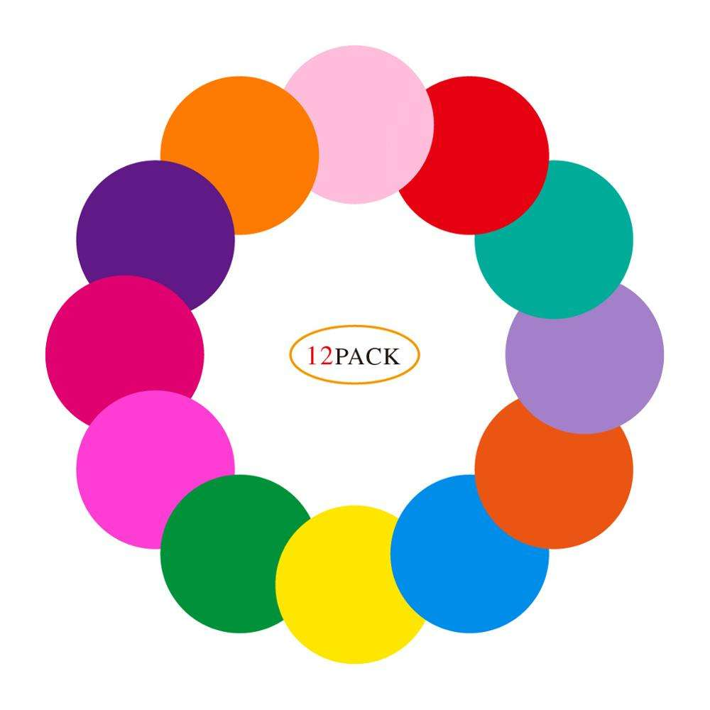 Colorful Set Dry Erase Circles White Board Marker Removable Vinyl Dot Wall Decal for Training School Teaching Progress