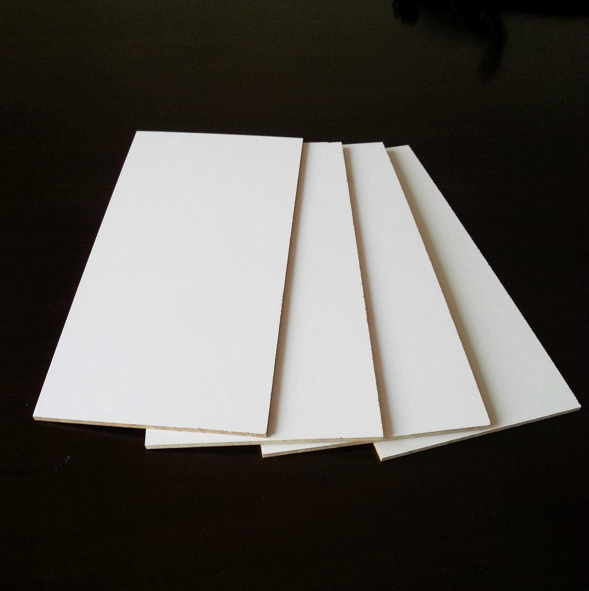 15mm melamine faced MDF board for door/wall panel/cabinet/furniture/photo frame and packing