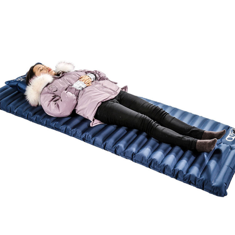 Customized single person camping thickened air sleeping bed mat camping picnic moisture-proof inflatable air mattress