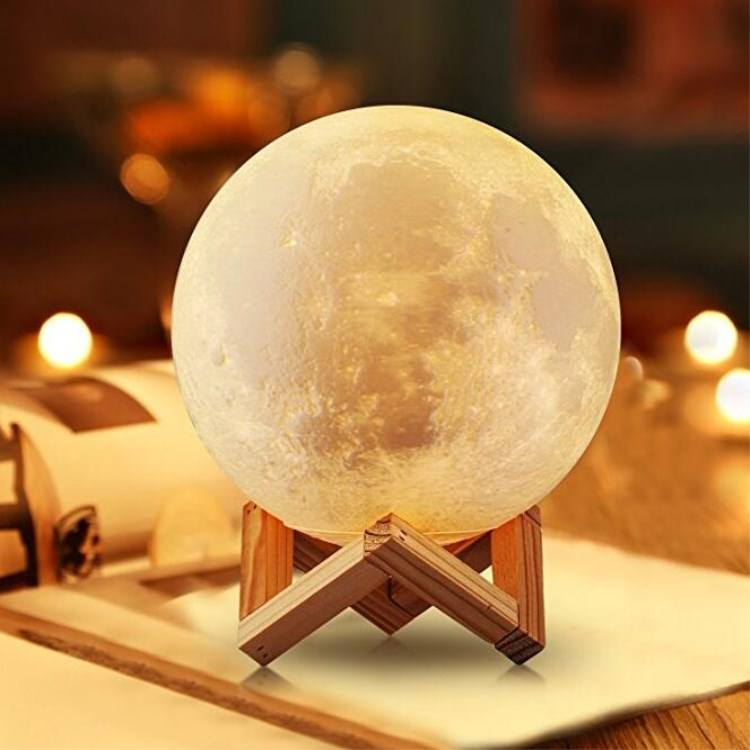 Lamps home decor night lights baby LED small night lights PVC moon desk lamp