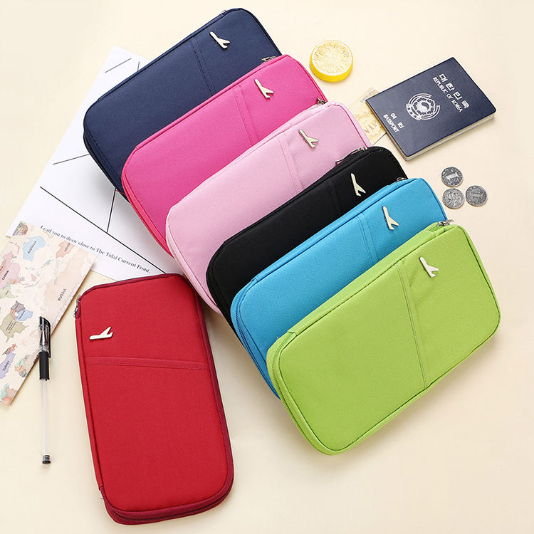 High Quality Wallet Passport Cover Storage Package Document Holder Waterproof Multifunction Travel Zipper Personality Card Pack