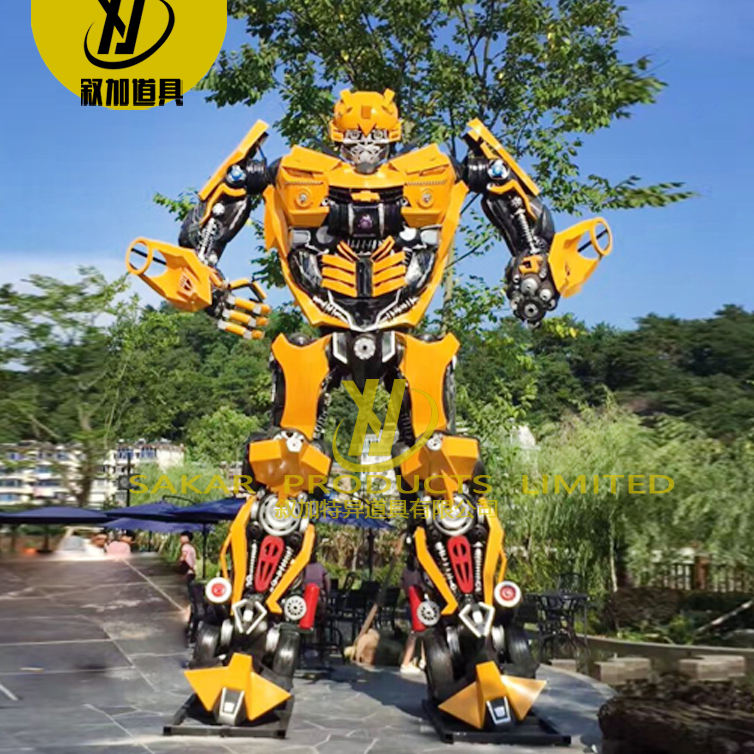 Large size metal Transformer Bumble bee Statue Sculpture modern metal art sculptures