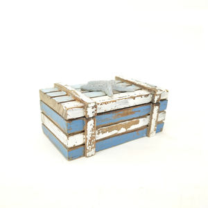 Rustic Nautical Antique Small Decorative Wooden Gift Box
