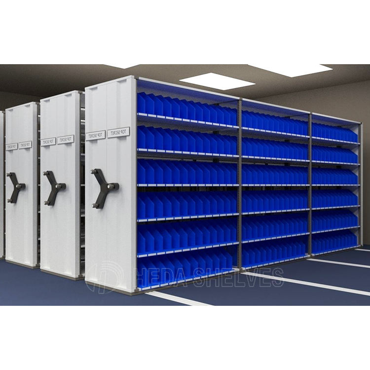 Easy Operate Metal Movable Mobile Shelving/Mobile Steel File Compactor/Compact Intelligent Steel Mobile Shelving