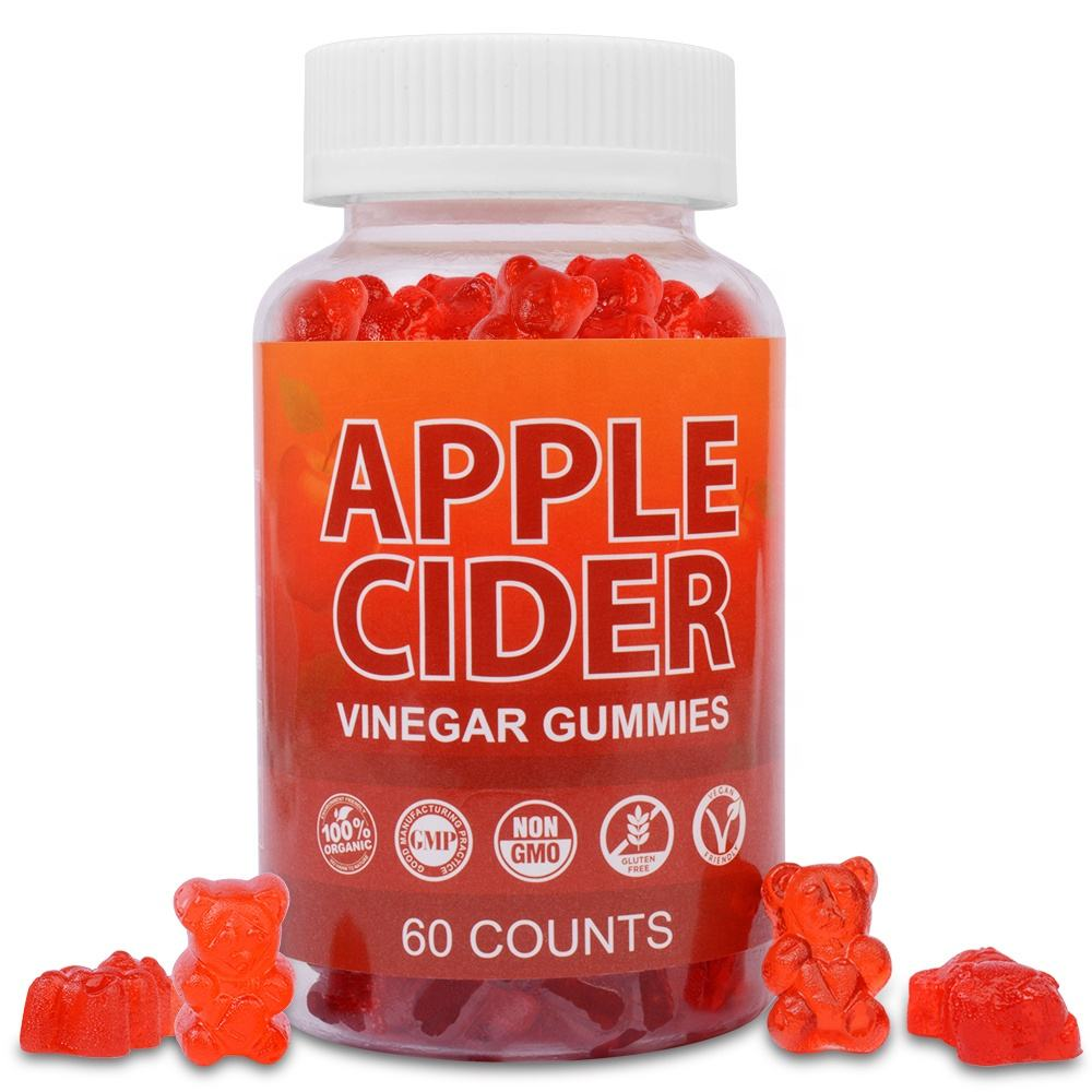 Vegan Apple Cider Vinegar Gummies with Organic Pomegranate Beet Root And Vitamins For Slimming