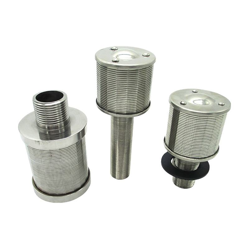Rvs wedge wire screen filter nozzle met discussies koppeling