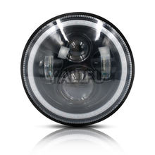 7inch High Low Beam LED bulb 12V 80W DRL Halo Angle Eyes Led Headlight for Wrangler TJ JK LJ Off road