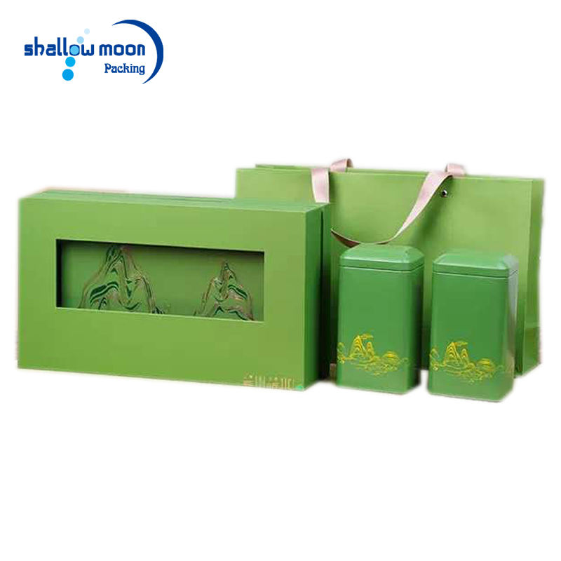 Custom Design Green Promotional OEM Tea Package Gift Box With Logo