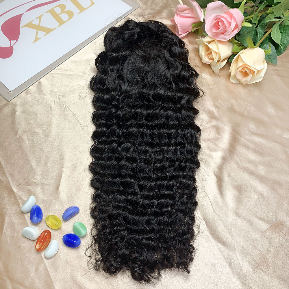 XBL Virgin Curly Clip In Hair PonyTail, Synthetic Hair Hige Body/Deep/Curly Weave Pony Tail Hair Extension,Virgin Brazilian Hair