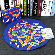 School interactive toys for children multifunctional candy shape matching games for kids spin toy