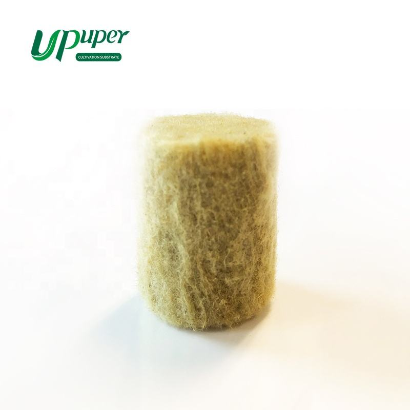 1 inch 1.5 inch optional starter stone hydroponic rock wool cheap cultivation column block seed plug