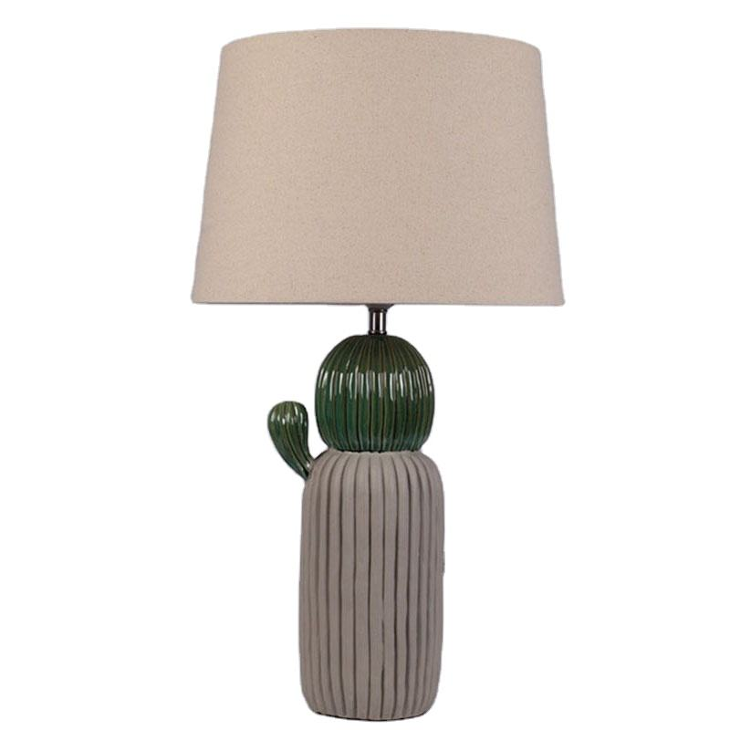 [ Reading Lights ] Wholesale Cheap Nordic Modern Ceramic Cactus Table Lamp Home Hotel Decorative Bedside Reading Lights Study Room