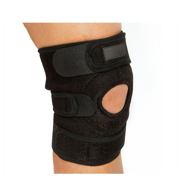One Size Fit Sports Wear support black Neoprene adjustable knee brace