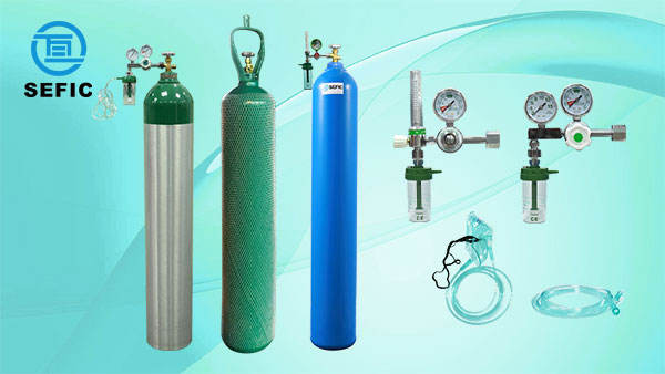 Cylinder Price Different Sizes Portable Empty Oxygen Cylinder / Medical Oxygen Gas Cylinder Price