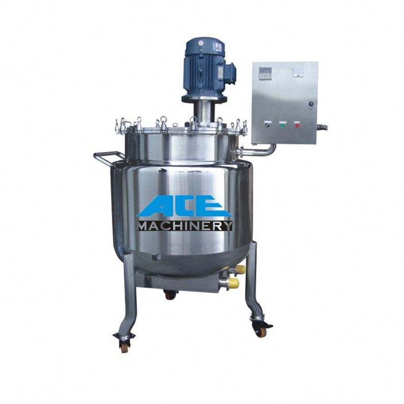 Ace Stainless Steel Steam Heating Double Jacketed Liquid Tank / 150L Mixing Tanks