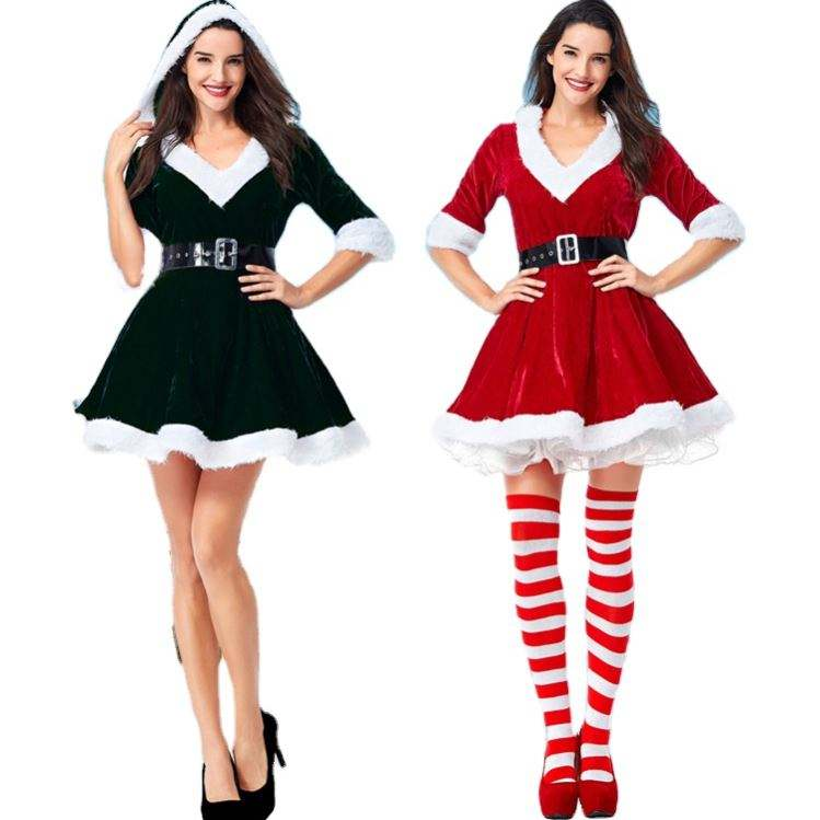 Christmas Santa Claus Costumes Christmas Outfits Adults Size Christmas Angel Fancy Dress Costumes