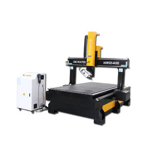 Acctek new design 1325 cnc router 4 axis 5 axis 3d cnc staute carving machine with high Z axis 500mm