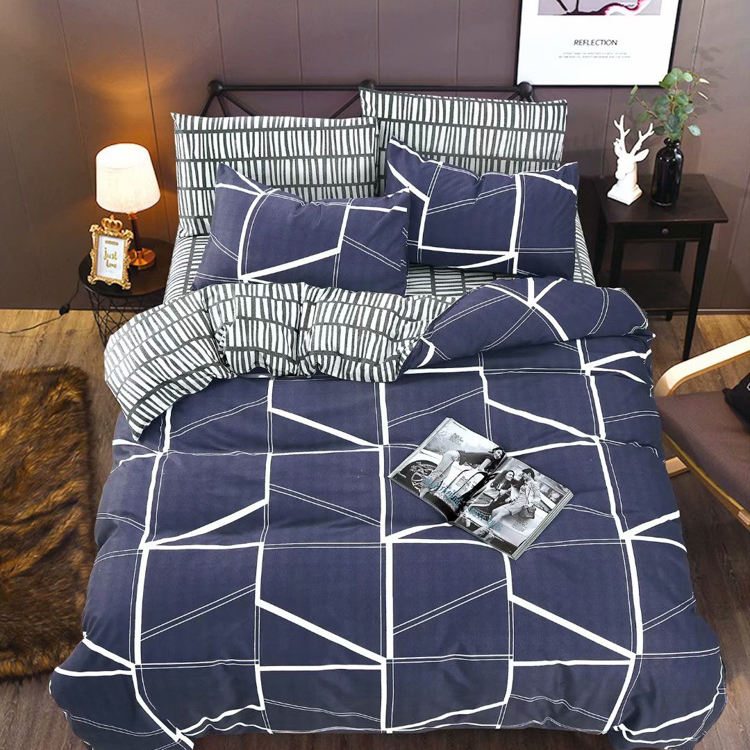 Hot sale bedsheet sizes edredones satin bedding set