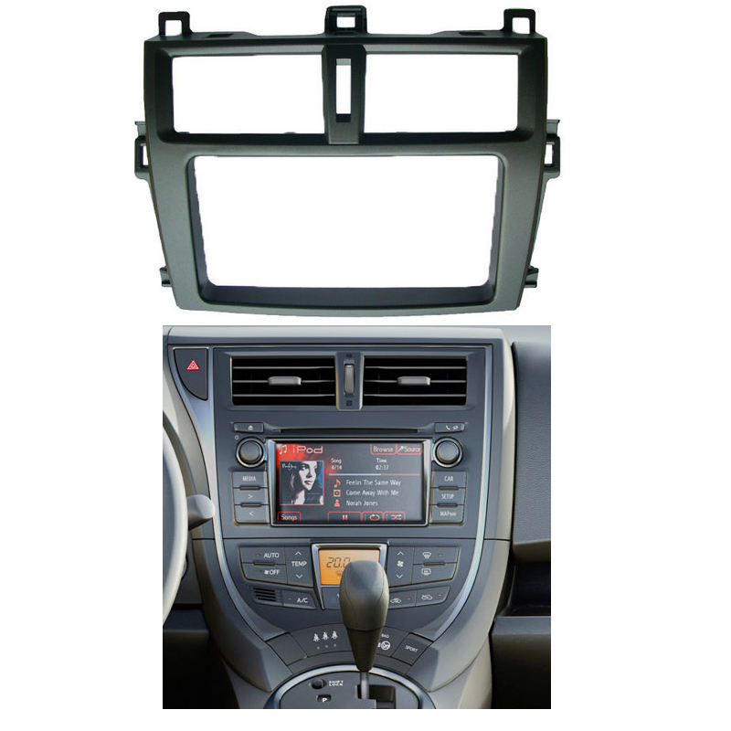2 Din Radio Fascia for 2012 Toyota Verso DVD Stereo Panel Dash Mounting Installation Trim Kit Face Frame Bezel