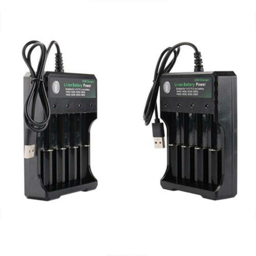XTAR MC4 USB 4x Battery Charger inc UK Plug