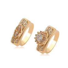 16205 Xuping latest style high quality 18K Yellow gold plated set engagement ring set diamond